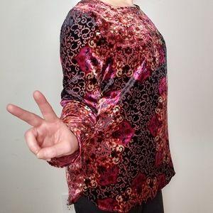 Unbranded Velvet Mandala Long Sleeve Top